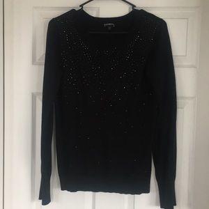 Express Black Rhinestone Sweater Size Medium
